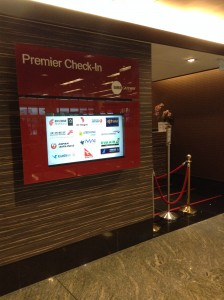 「Premier Check-in」(プレミアムチェックイン)カウンター