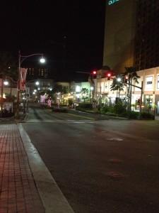 グアムの中心部 深夜タモンの街並み2
